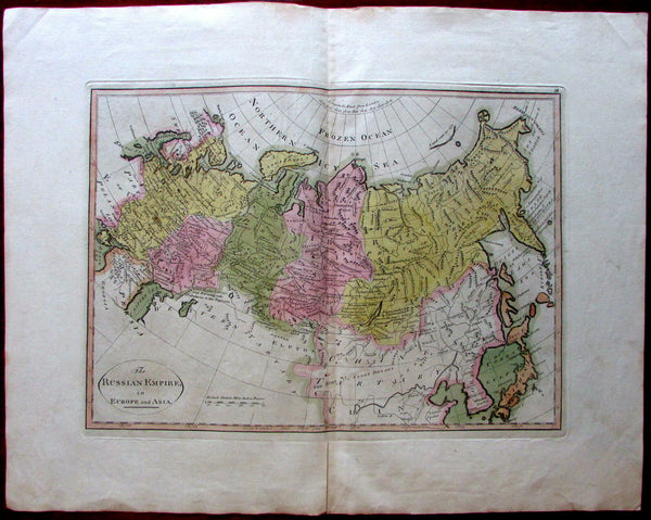 Russian Empire Europe Asia 1795-1814 M. Carey W. Barker scarce early U.S. map