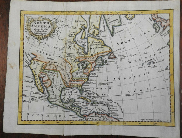 Colonial North America Canada 12 Colonies Louisiana New Spain 1759 Kitchin map