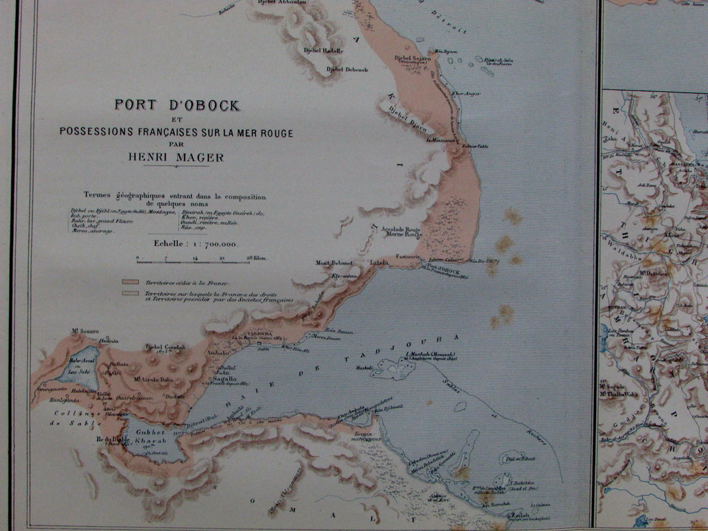 Port Obock Djibouti Red Sea Africa Eritrea French colonies France