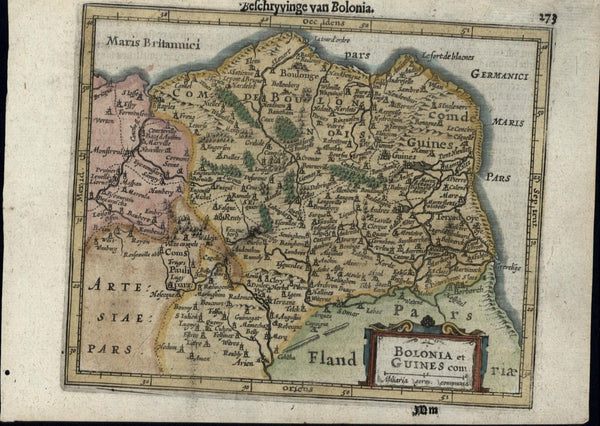 Bolonia Artesia Belgium Holland Low Countries c.1628 Mercator minor old map