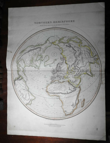 Northern Hemisphere 1816 Thomson map Mts. of Moon in Africa explorer tracks