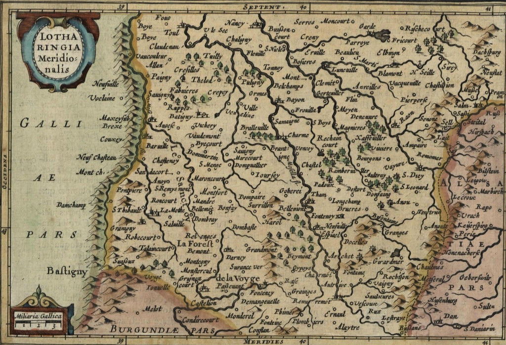 Belgium Luxembourg Lotharingia Low Countries nice c.1628 Mercator minor old map