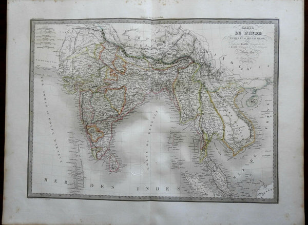 India Southeast Asia Mughal Empire India Annam European Colonies 1829 Lapie map