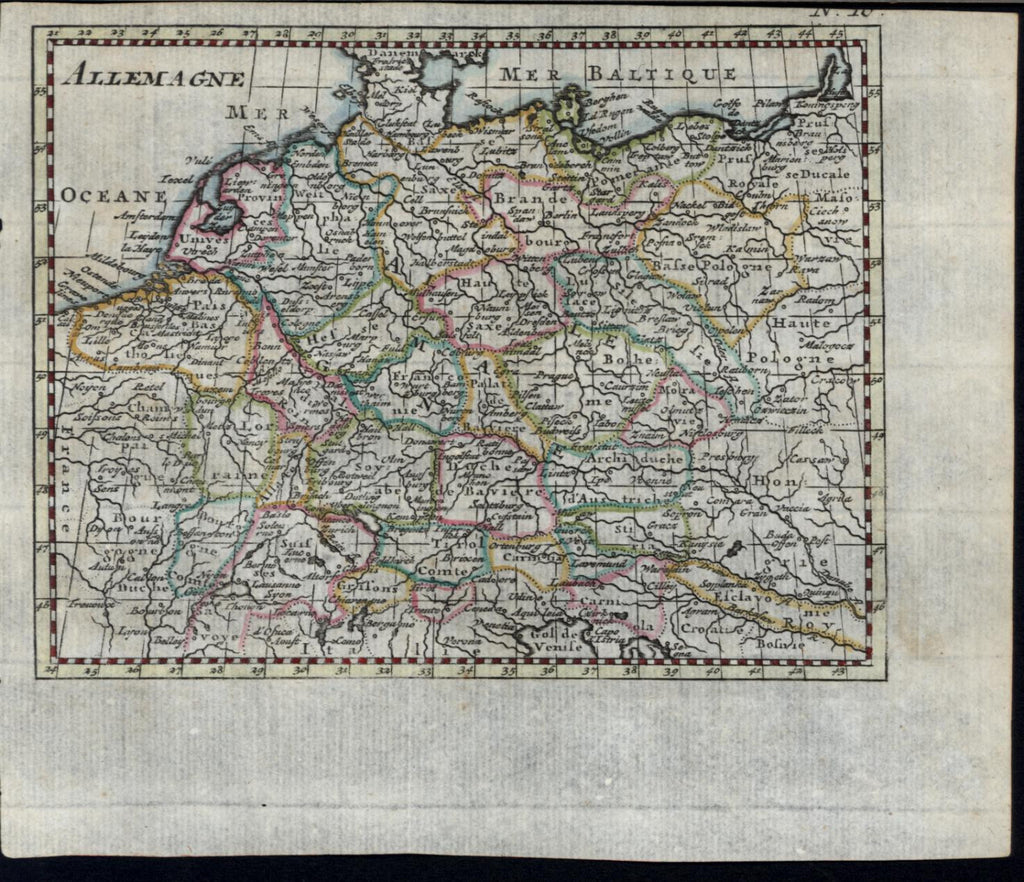 Germany Low Countries 1778 Desnoy Allemagne antique engraved hand color map