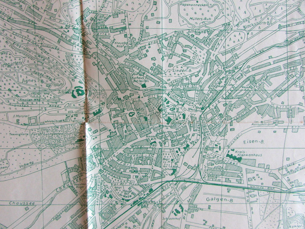 Wernigerode Harz Germany c.1931 scarce folding vintage European City Plan