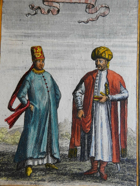 People of the World Middle East Arabs Costume Ethnic View 1683 Mallet print
