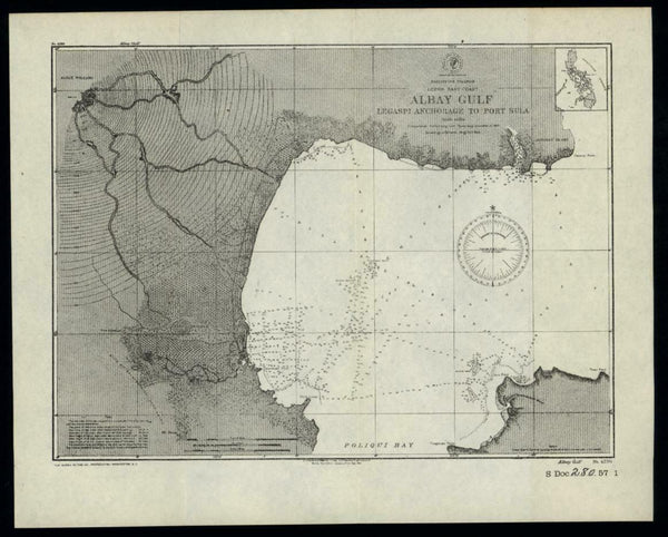 Philippine Islands Legaspi anchorage to Port Sula 1902 small nautical chart