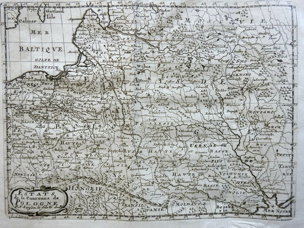 Polish Commonwealth Poland-Lithuania Eastern Prussia 1715 Sanson map