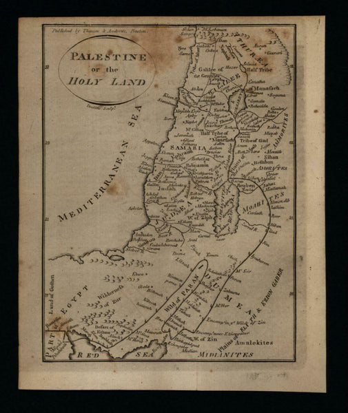 Palestine Holy Land Middle East 1796 Doolittle scarce American engraved map