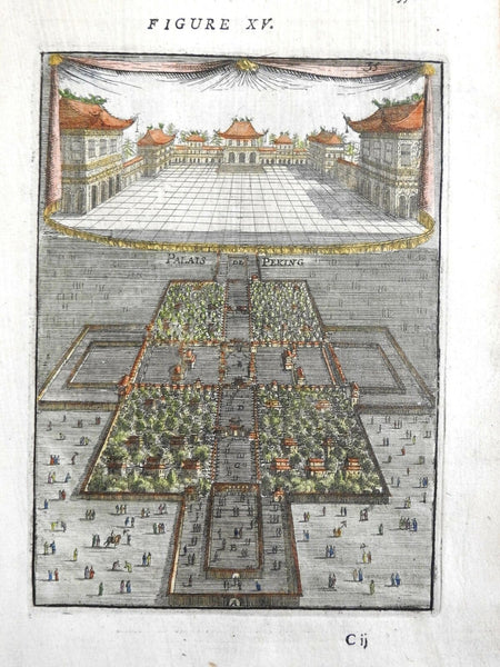 Forbidden City Chinese Imperial Palace Beijing Peking 1683 Mallet birds eye view