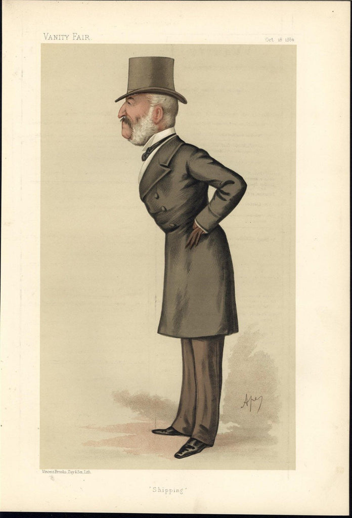 Charles Mark Palmer Legislator Caricature 1884 antique color lithograph print