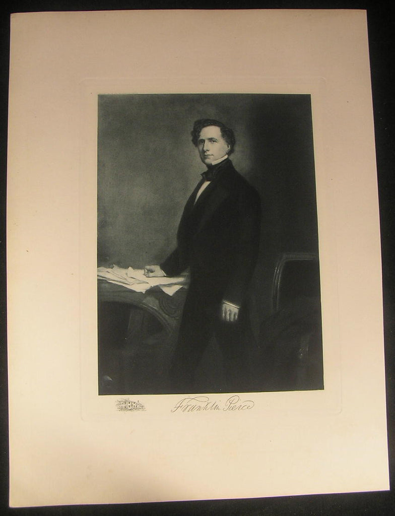 Franklin Pierce President 1901 large antique photogravure portrait print