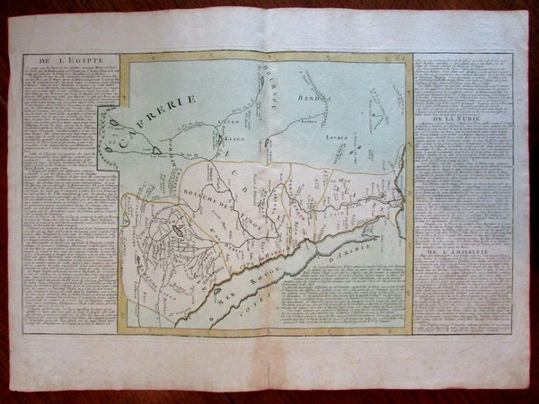 North Africa Egypt Nile source shown as 2 lakes and Mts. of Moon c.1780 map