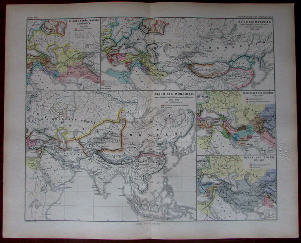 Kubilai Khan Mongolian Empire Asia Europe 1880