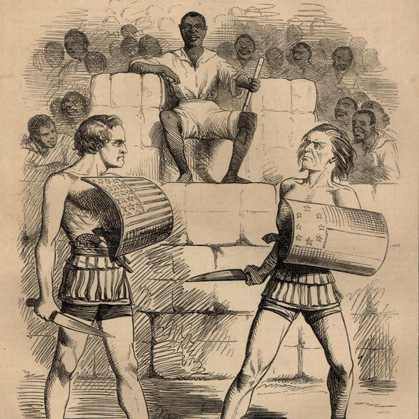Civil War slavery political cartoon Davis 1861 African American Black Americana