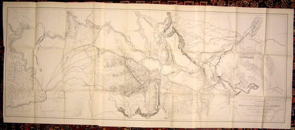 Milk River Columbia River Crossing Railroad Survey 1855 Jeff Davis & Stevens map
