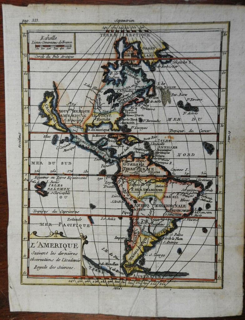 Colonial Americas California as an Island French Canada c. 1720 map
