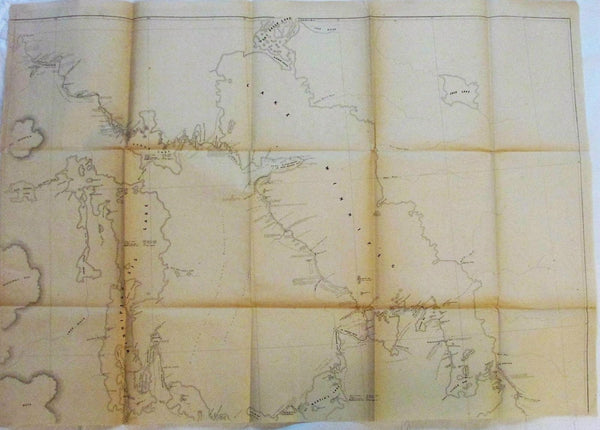 Lake Winnipeg Manitoba Red River British Canada 1858 old antique topo two maps