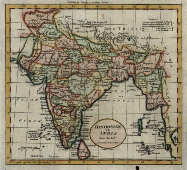 India Hindostan 1796 Doolittle rare American engraved map Wheat & Brun #886
