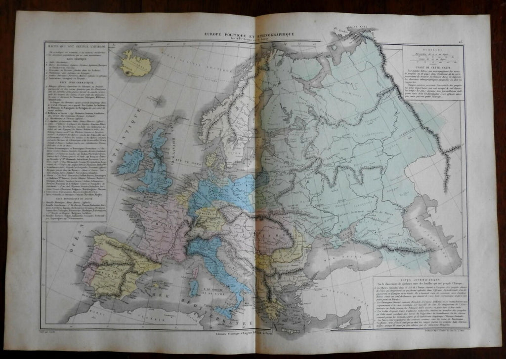 Ethnicities of Europe Ethnography races cultures of man 1872 Belin map