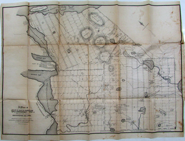 Gilmanton New Hampshire NH Lake Winnipesaukee Belmont 1845 old Bufford city plan
