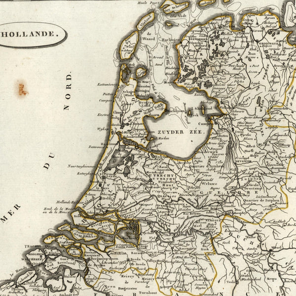 Holland Netherlands United Provinces 1804 engraved old map