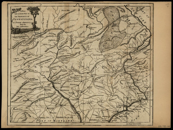 Pennsylvania as British Province map 1780 rare pre-statehood periodical issued