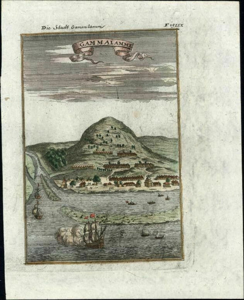 Gammalamme East Indies Maluku Islands Indonesia 1719 Mallet birds-eye view