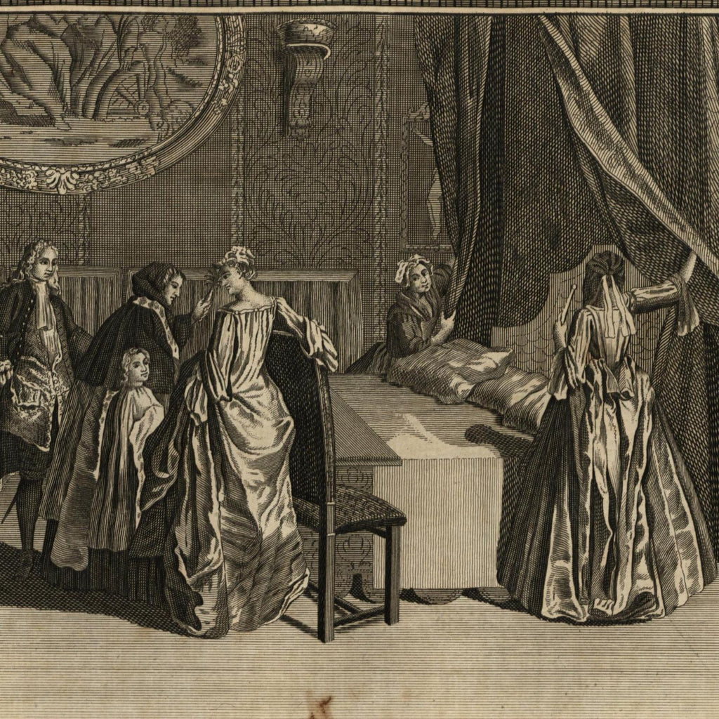 Blessing Nuptial Bed Roman Catholics Religious Rites Ceremonies 1789 old print