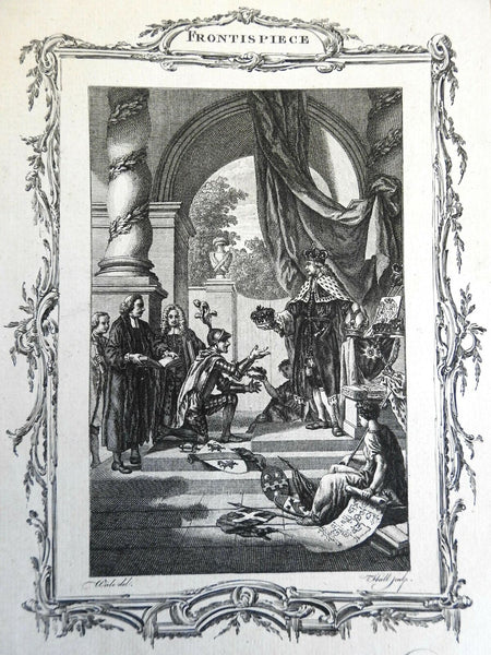 Royalty Rewarding Military Virtue and Learning 1780 Allegorical Frontispiece