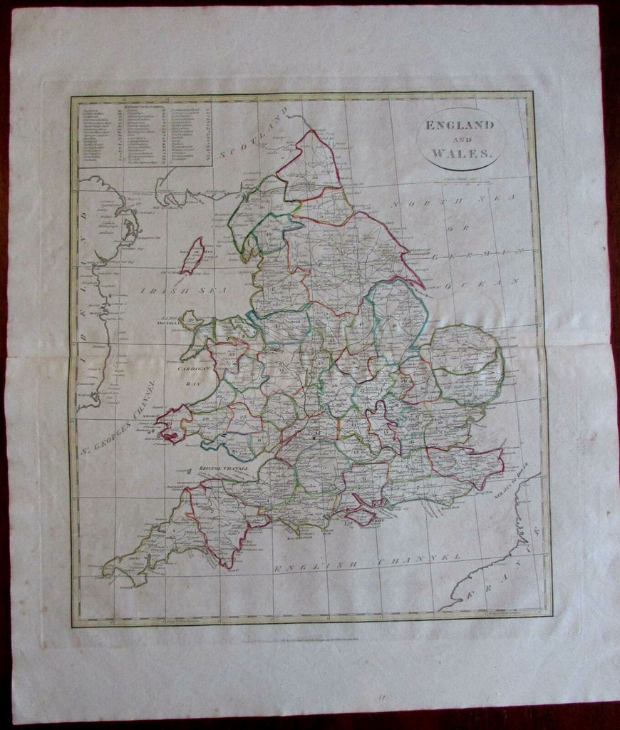 England & Wales 1808 Longmans folio Guthrie antique map