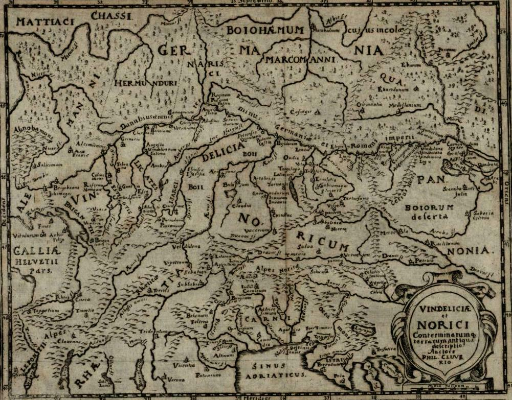 Austria Holy Roman Empire Germany Hungary Bohemia 1694 Cluver Mosting map