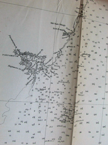 Cape Small Point Maine Cape Cod MA Boston 1855 U.S. coast survey old map