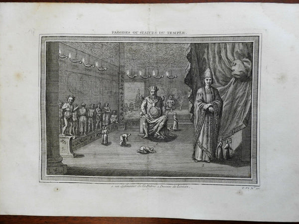 Pagodas & Statues Chinese Temple Realm Defender 1748 Didot engraved view