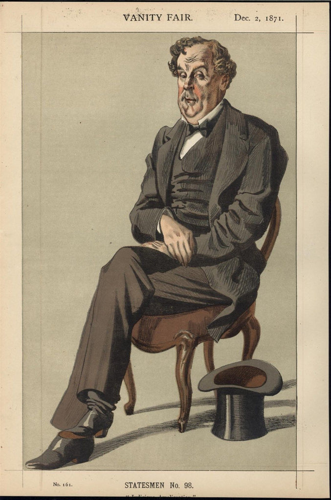 Alexander Baillie Cochrane Baron Lamington 1871 Vanity Fair old color print