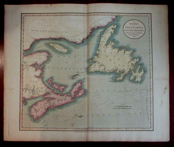 Canada Nova Scotia Newfoundland 1807 Cary folio sheet map Gulf of St. Lawrence