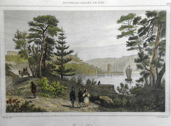 Sydney Australia New South Wales City View Harbor Park 1837 Didot