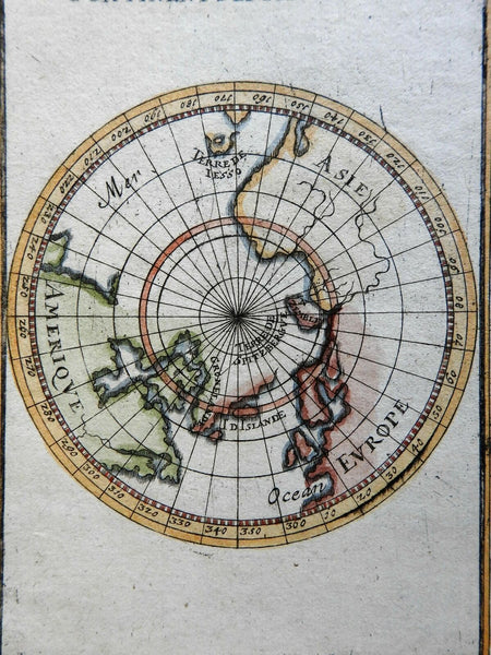 California as island in Northern Hemisphere Asia North America 1719 Mallet map