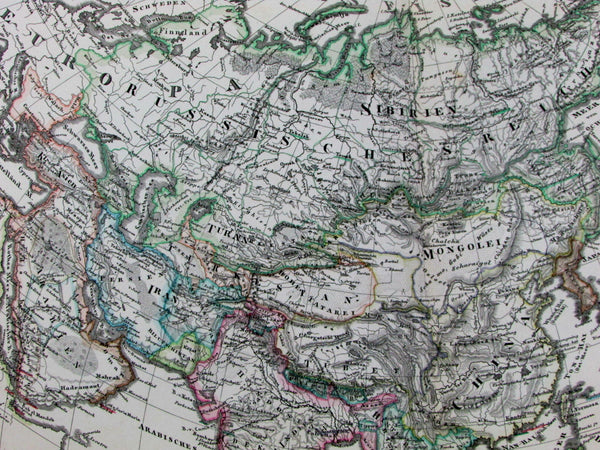 Asia Arabia Iran Hindoostan China Russia Turkey Japan 1878 Stulpnagel old map