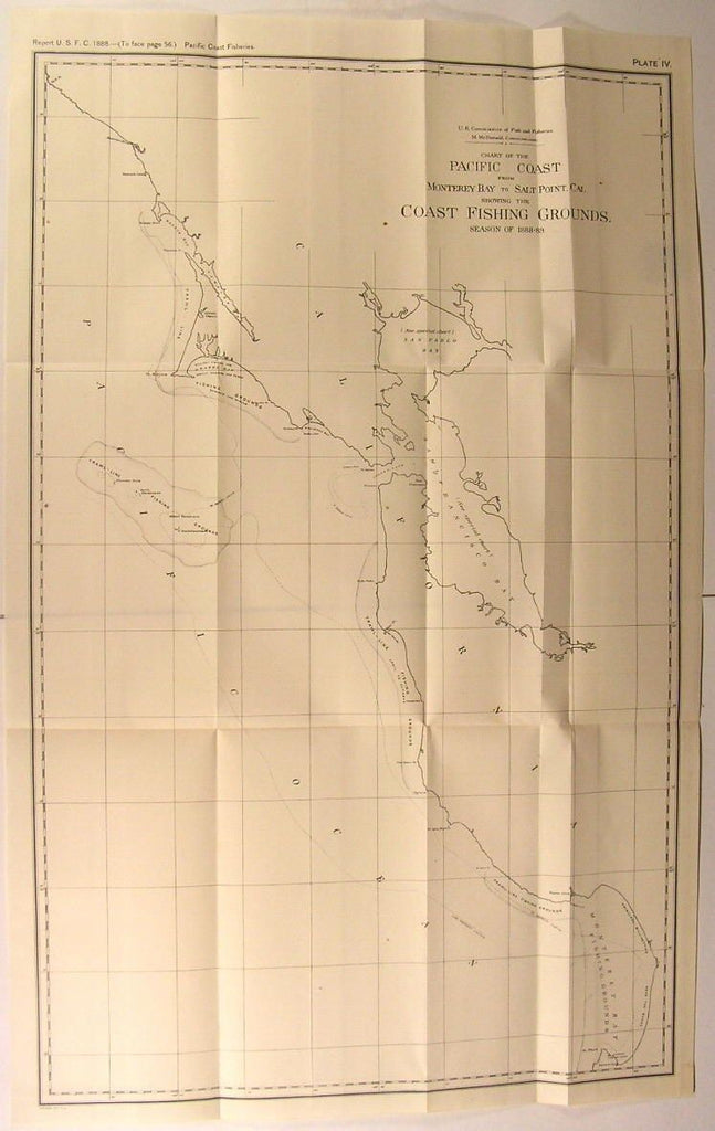 Monterey Bay to Salt Point CA Coast Fishing Grounds 1888 U.S.F.C. fisheries map