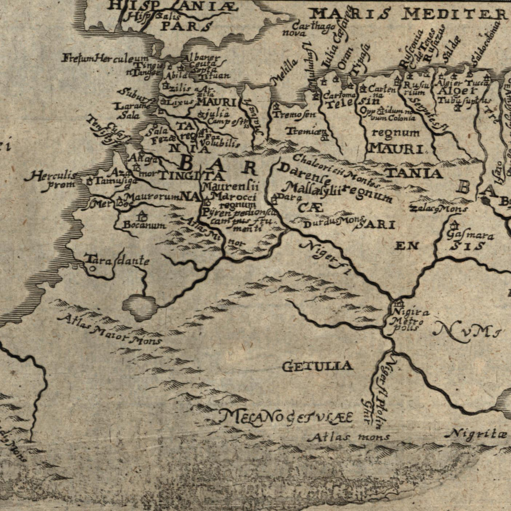 north Africa Barbary coast Morocco Tunisia 1694 Bunonis Heirs old