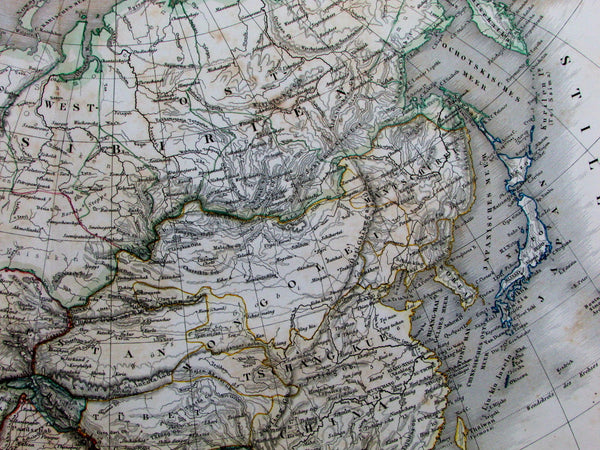 Asia Chinese Empire Persia Hindoostan w/ European colonial territories 1857 map