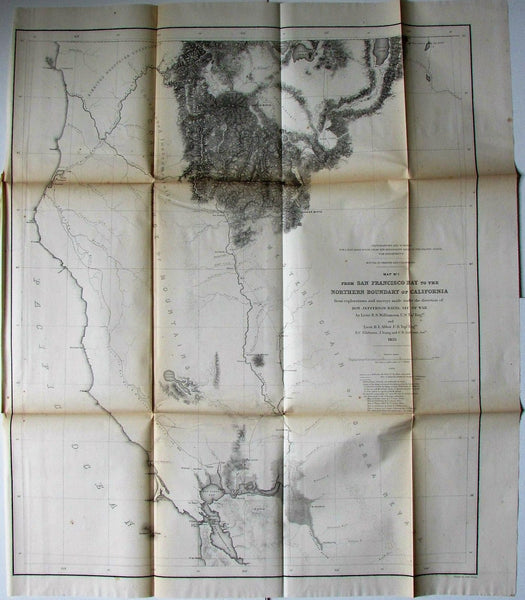 San Francisco Bay California Oregon American West 1855 Jeff Davis U.S. RR map