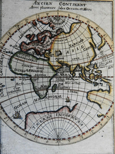 Ancient World Africa Asia Europe Arabia India Mediterranean Sea 1719 Mallet map