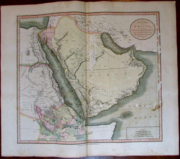 Saudi Arabia Egypt African Kingdoms Mt. Moon 1811 John Cary lovely large old map