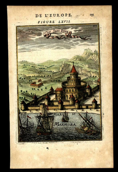 Castle of Seven Towers Istanbul Constantinople 1683 Mallet print