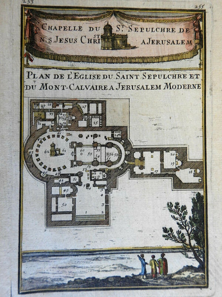 Church Holy Sepulcher Christian Holy Land Site Jerusalem 1683 Mallet print