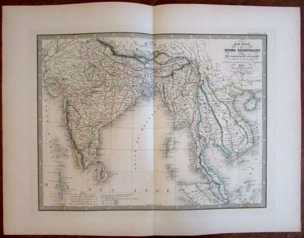 India Siam southeast Asia Vietnam Siam Anam 1837 beautiful Andriveau Goujon map