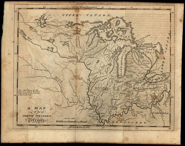 North West Territory 1796 S. Hill & Morse Indian Reservations Company Lands map