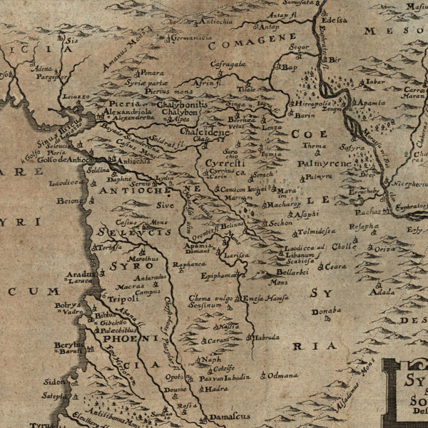 Syria Antioch Mesopotamia Holy Land Phoenicia 1694 Bunonis Heirs rare map
